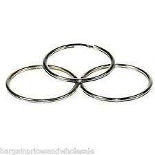 10x 30mm Silver Brass Split Ring DIY, Key rings, Findings, Craft