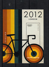 Ghana 2012 MNH London Olympics 4v 4 Diff M/S Basketball Swimming Cycling Stamps