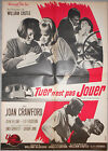 Affiche TUER N'EST PAS JOUER I saw what you did JOAN CRAWFORD 60x80cm 1965