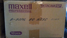 """Used """"Blank"""" Maxell Pro Betacam SP Case of 10 Tapes - 90ML 90 Minute Large"""