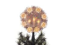 Christmas Tree Topper Window Decoration White Lights Candelabra Star Silver NEW