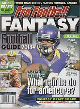 PRO FOOTBALL WEEKLY MAGAZINE FANTASY FOOTBALL GUIDE 2013, RANKING BY POSITION.