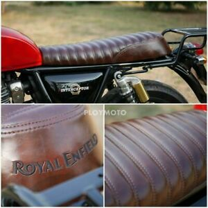 ROYAL ENFIELD SEAT INTERCEPTOR 650 INT GT 650 SOFTER LUXURY GRADE DARK BROWN