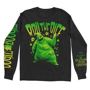 Nightmare Before Christmas T Shirt Roll The Dice new Official Black Long Sleeve
