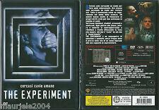 The Experiment. Cercasi cavie umane (2001) DVD NUOVO Moritz Bleibtreu, T Dierkes