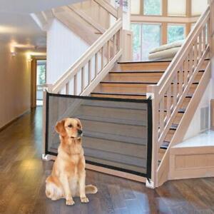Retractable Safe Pet Gate Dog Cat Barrier Net Guard Fence Enclosure Room Divider
