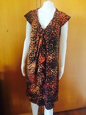 Jacqui E-Ruffle Collar-Stretch Dress Size M = 14/16