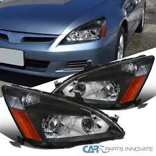 Fit 2003-2007 Honda Accord 2/4 Dr Black Retro Style Projector Headlights