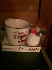 Pfaltzgraff WINTERBERRY 25th Anniversary SNOWMAN Happy Holidays Mug Cup 20 oz