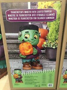 Halloween 2ft (61.5cm) Frankenstein Monster Greeter With LED Pumpkin