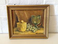 Vtg Mid Century 1967 Signed PC Vaughan Texas Regional Artist Still Life Painting