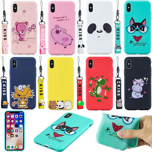 Cute 3D Strap Patterned Silicone Rubber Soft Back Lot Case Cover Bumper Ultra