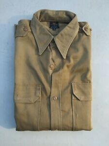 WW2 US Army Khaki Officer's Shirt New Size 15 Short