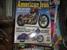 AMERICAN IRON  magazine  #346  2017  BAGGER RIDE REVIEW    , HARLEY   J-13