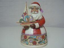 Jim Shore Heartwood Creek CHRISTMAS SPIRIT FILLS MY SAILS Santa #4022912