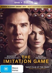 The Imitation Game DVD (PAL, 2014) VGC, FREE POST