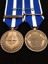 Medaglia NATO in Kosovo a grandezza naturale,coniatura di ottima qualità