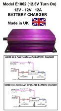 NARROWBOAT 12V to 12V BATTERY CHARGER 12AMP 144W DC-DC, E1062, 12.5V Turn On