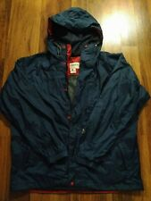 COLUMBIA Navy Blue Nylon RAIN JACKET Hiking Camping Windbreaker Coat Sz Men's L