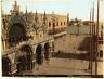Salviati. Italie, Venezia, Piazza dalla Torre dell'Orologio Vintage albumen