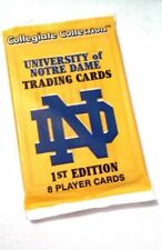 Collegiate Collection University of Notre Dame Trading Cards 1st Ed 1 for 99