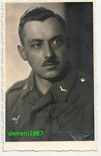 Portrait Foto Ak Luftwaffen Gefreiter Krakau polska 2 Wk IIWW ! (F997