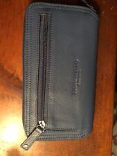 Tignanelli Ladies Genuine Leather Zip Around Wallet Clutch Blue New
