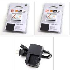 2pcs NP-BN1 Lithium N Type Battery 600mAh + Charger For Sony Cyber Shot NIB
