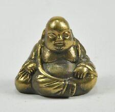BRONZE Chinese Happy Sitting Budai Buddha God Laugh 4cm