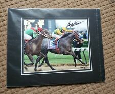 SILVER CHARM KY DERBY WIN PHOTO - Signed by Gary Stevens and Barbara Livingston