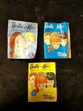 """3 Vintage 1960's Barbie Ken and Midge Catalogs 3"""" X 4"""""""