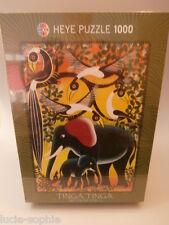 """HEYE / Tinga Tinga 1000 Teile Puzzle """"Elefantenfamilie"""" NEU"""