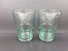 2 x BACARDI EMBOSSED HEAVY MIXER GLASSES 36cl WHITE RUM BRAND NEW
