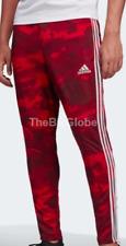 Adidas Men's Tiro 19 Camo Soccer Training Climacool Pants Active Maroon
