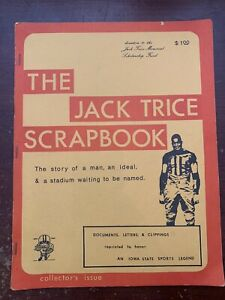 Rare The Jack Trice Scrapbook 1974 Collectors Issue Iowa State 1 of 2000