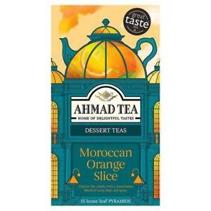 Ahmad Moroccan Orange Slice 5 Boxes of 15 Tea Bags   Free UK Delivery