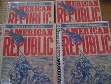 BJU The American Republic set (3rd ed) (8th gr. history)
