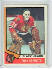 1974-75 Topps hockey - TONY ESPOSITO - Card  #170 - HOF - Blackhawks - EX-NM