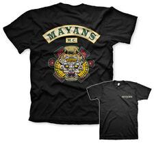 Official Licensed Mayans M.C. Backpatch Men's T-Shirt S-XXL (Black)