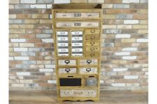Large Rustic Wooden Cabinet Multi Storage Drawers