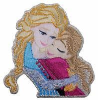 Disney's Frozen Hugging Sisters Anna and Elsa Iron On Applique