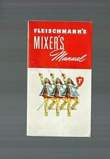 1942 Fleischmann'S Mixer's Manual Vgc Cocktail Recipe Booklet