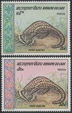 LAOS N°203/204** Mammifère, Panis Auritas, TB, 1969,  Chinese Pangolin set MNH