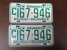 New Brunswick 1979 License Plates Pair - C167 946 - near MINT