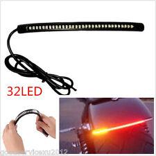 12V Flexible PVC Rubber 32LED Red&Amber Motorcycles Tail Brake Light Turn Signal