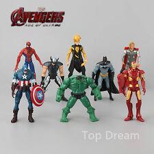 8X The Avengers Hulk Captain Batman Spider Man Iron Man Figure Action Toy LIGHT