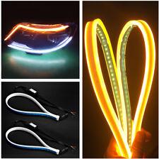 2x Ultrafine 25W White/Amber IP65 DRL &Flowing Turn Indicator Flexible LED Strip