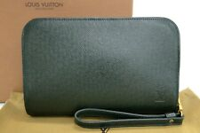 LOUIS VUITTON Clutch Second Bag Baikal Taiga Leather M30184 Green 32170237300 K