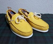 NWB RALPH LAUREN CALF-LEATHER MENS THAD BOAT SHOES SIZE 9.5D (MUSTARD YELLOW)