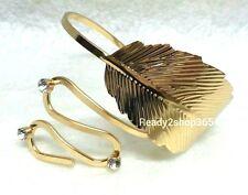 Leaf Upper Arm Bracelet Armlet Cuff Punk Dancer Armband Women Bangle Swirl Gold